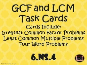 1000+ images about gcf lcm on Pinterest | Worksheets, Activities ...