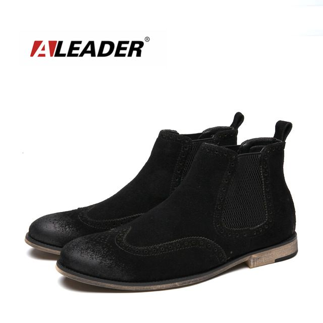 Promotion price Aleader New Luxury Fashion Boots Men Leather Chelsea Boots Wedding Party Men Dress Shoes Casual Ankle Boots For Men Cowboy Botas just only $43.99 with free shipping worldwide  #menshoes Plese click on picture to see our special price for you
