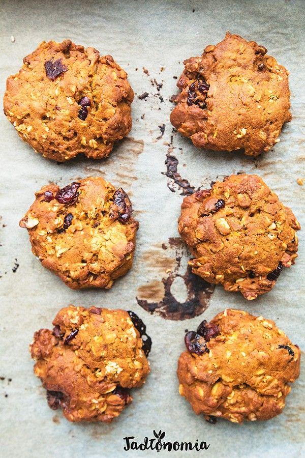 Dyniowe ciasteczka owsiane » Jadłonomia · wegańskie przepisy nie tylko dla wegan