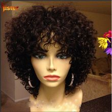 Short Human Hair Wigs Brazilian Human Hair Short Curly Wigs For Black Women Human Short Curly Hair lace Front Wig With Baby Hair(China (Mainland))