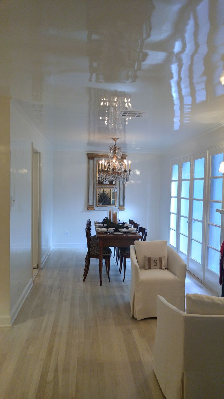 Gorgeous white high-gloss Fine Paints of Europe room!                                                                                                                                                                                 More