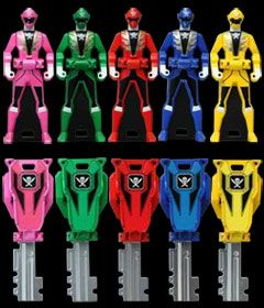 Power Rangers Super Megaforce Keys