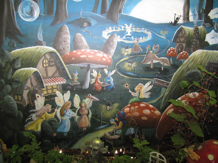 7 best behang wallpaper komar images on pinterest murals for Fairy garden mural