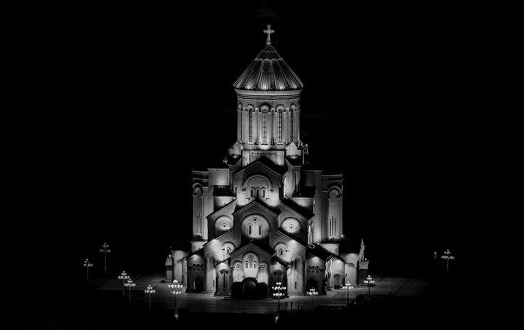 Trinity Sameba Cathedral, Tbilisi at night by John Wright on 500px
