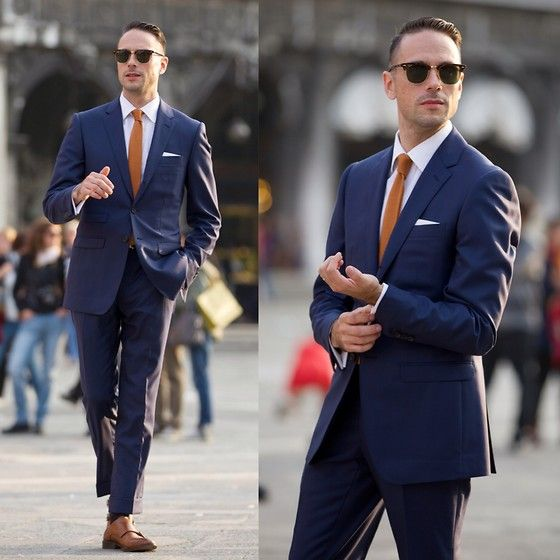 Ray Ban Sunglasses, Qg Custom Suit, The Tie Bar Tie, To Boot New York Shoes