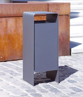 Versio corpus Litter bin with ashtray by Westeifel Werke. Click image for details and visit the slowottawa.ca boards >> https://www.pinterest.com/slowottawa/boards