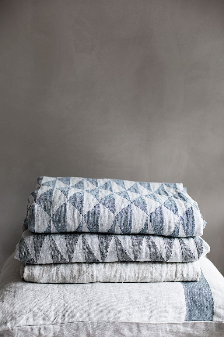 TRIANO linen throws. Design Marja Rautiainen, woven in Finland by Lapuan Kankurit.