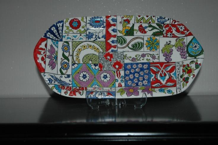 Ceramic tray (Patchwork)
