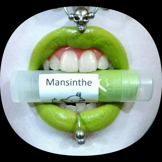 Von Drac Makens - leuchtend gelb-grün-Lippenstift - Marilyn Manson Mansinthe inspiriert Lippenstift Gothic