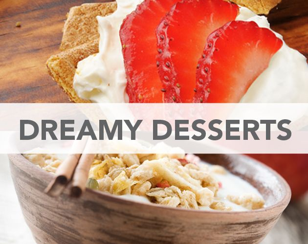 Dreamy Desserts: Cheesecake Bites and Apple Crisp with Creamy Sweet Yogurt - Approx. 200 calories for each recipe #UWeightloss
