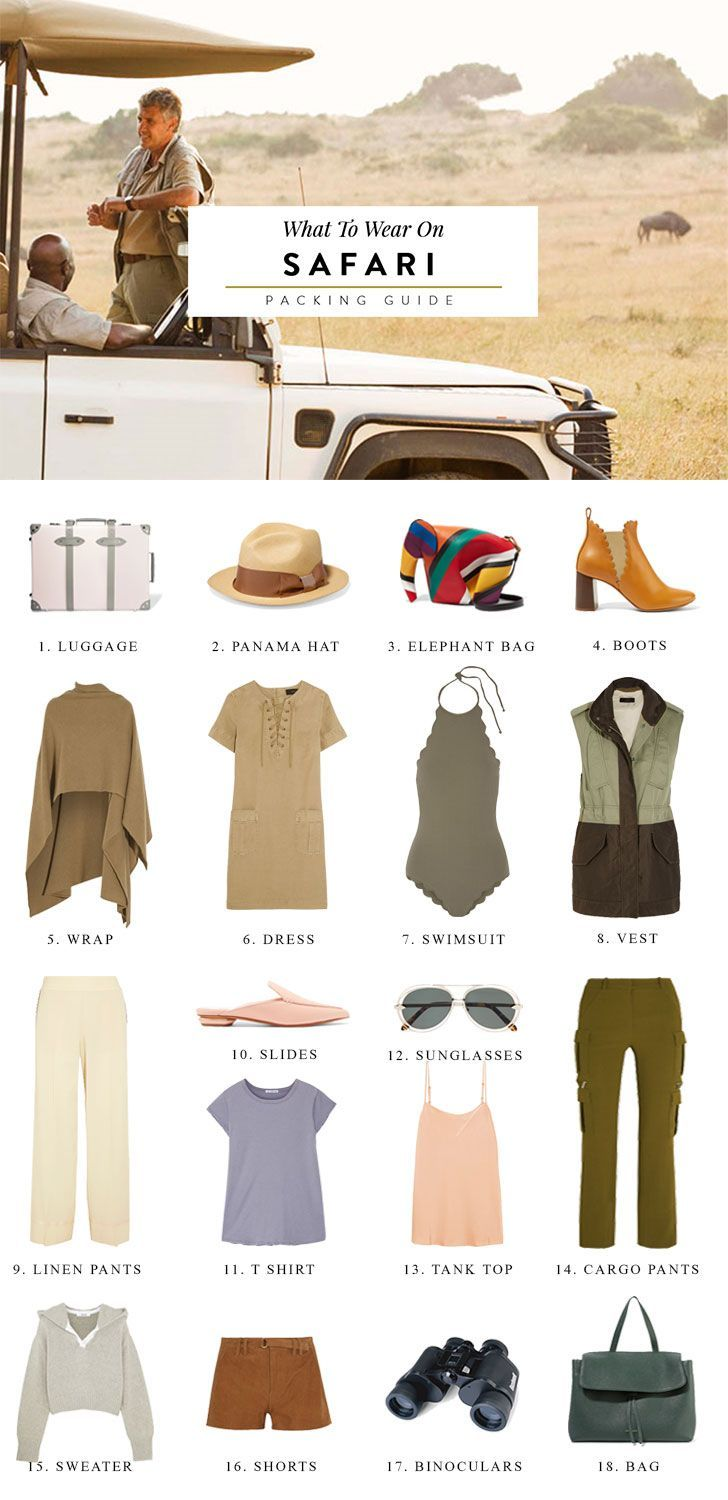 everything to pack for an african safari vacation including safari women outfits ideas and advice on what to wear for safari in south africa.  south africa travel, safari photography, safari photo equipment, how to photograph a safari: