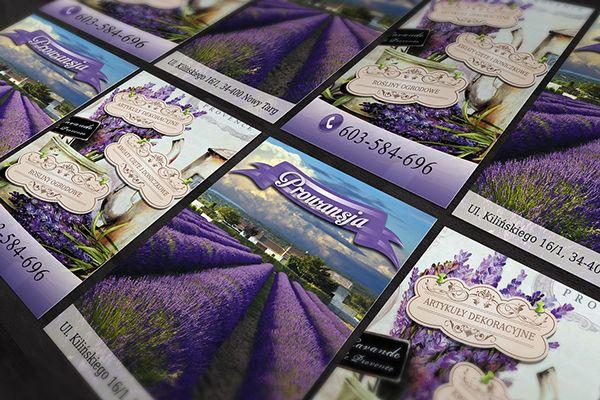 Flyer & bussines card for PROWANSJA by Ewelina Stożek, via Behance