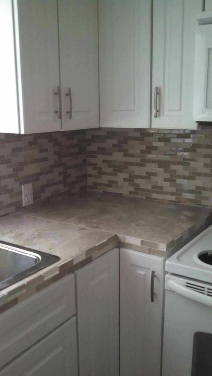 Kitchen Tile Backsplash With Granite