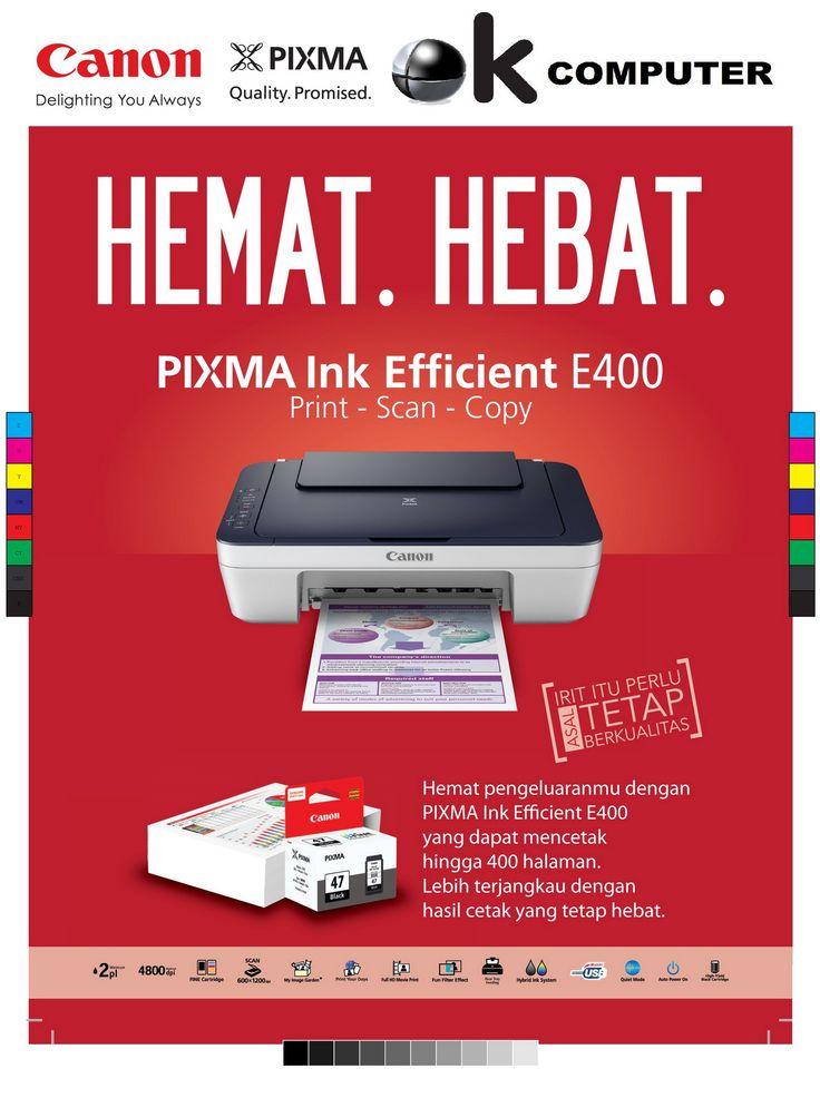 printer canon E400 print scan copy Catridge murah