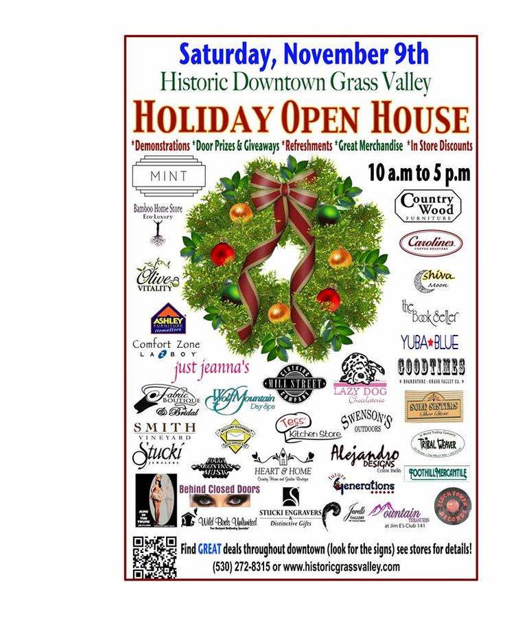 """Come downtown and start your holiday shopping early! Downtown merchants """"kick off"""" the holiday season each year with promotions, sales, door prizes, trunk shows, refreshments, music and kids activities, not to mention the PRE-HOLIDAY SALES! Find unique gifts and gift cards available at over 30 participating merchants... look for the Holiday Open House signs throughout downtown on Saturday, November 9th from 10-5PM"""