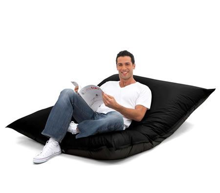 Large 2-Seater Comfortable Bean Bag - Black