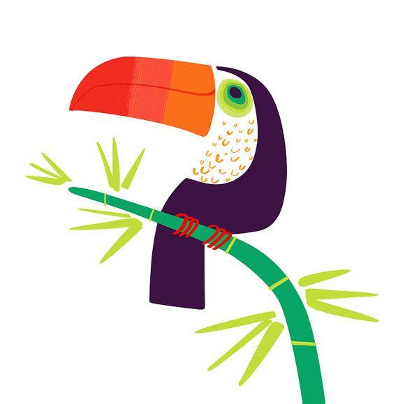 Toucan limited edition pigment print par SmallEditions sur Etsy