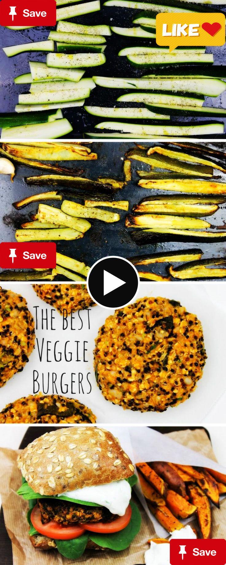 Het recept voor Vegg Het recept voor Veggie Burgers met gegrilde courgette en feta-knoflooksaus   It's a Food Life