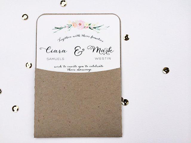 Rustic Typography Wedding Invitation
