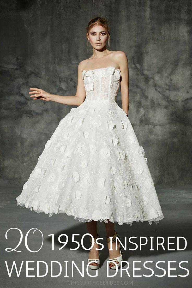 Vintage pearl bridal blog real brides news amp updates wedding - 20 Chic 1950s Inspired Wedding Dresses