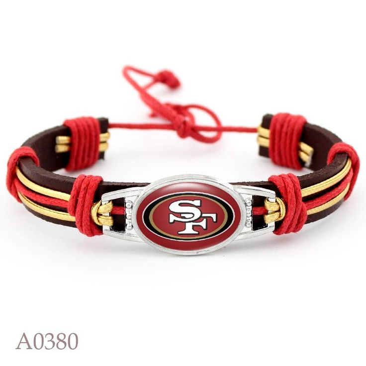 sport bracelets fans gift     Product Name:  team leather  bracelet Product weight: about 25 grams Material: plastic buckle, 4mm seven-core umbrella rope   ****