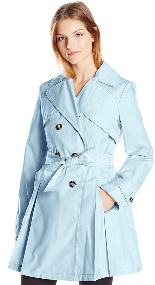 Laundry By Shelli Segal Women's Double Breasted Classic Trench - This is a double-breasted trench coat with a removable tie belt Link    #fashion #women #womenfashion
