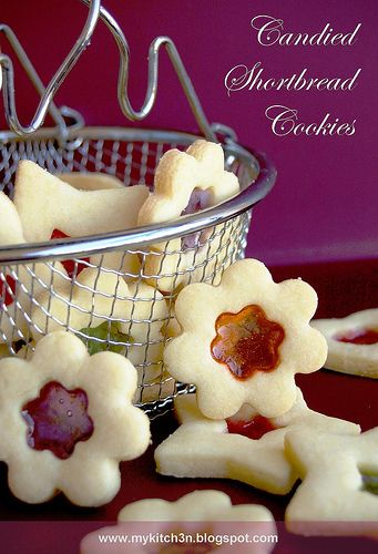 Stain-glass cookies / Candied Shortbread Cookies