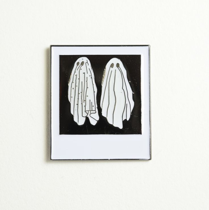 Image of Ghost Polaroid Lapel Pin