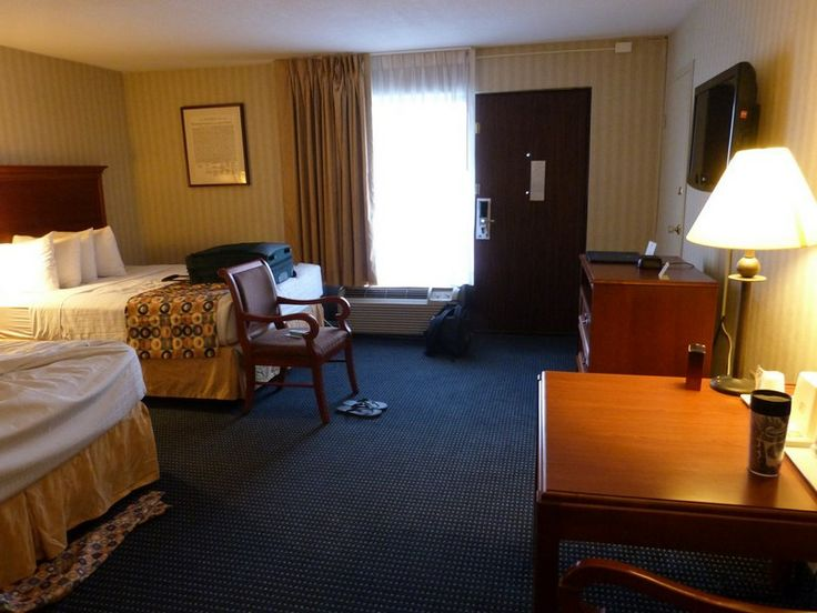 My hotel room in Arlington, VA