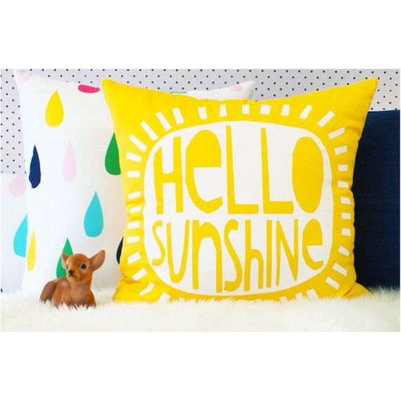 Brighten up your bedroom with this Thread Design Hello Sunshine Cushion #flybuysnz #400points #threaddesign