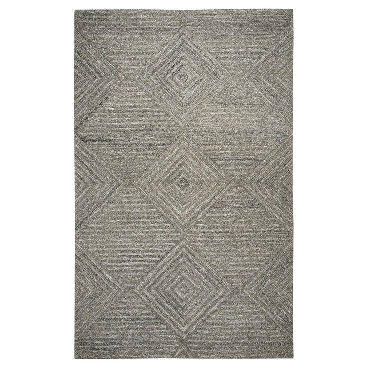 Geometric/Solid Rug - Grey - (10'X13') - Rizzy Home