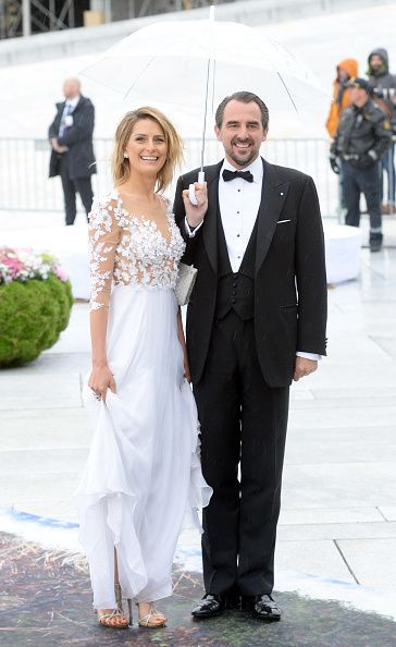 Prince Nikolaos and Princess Tatiana of Greece are seen arriving at the Opera House on the occasion of the celebration of King Harald and Queen Sonja of Norway 80th birthdays on May 10, 2017 in Oslo, Norway.