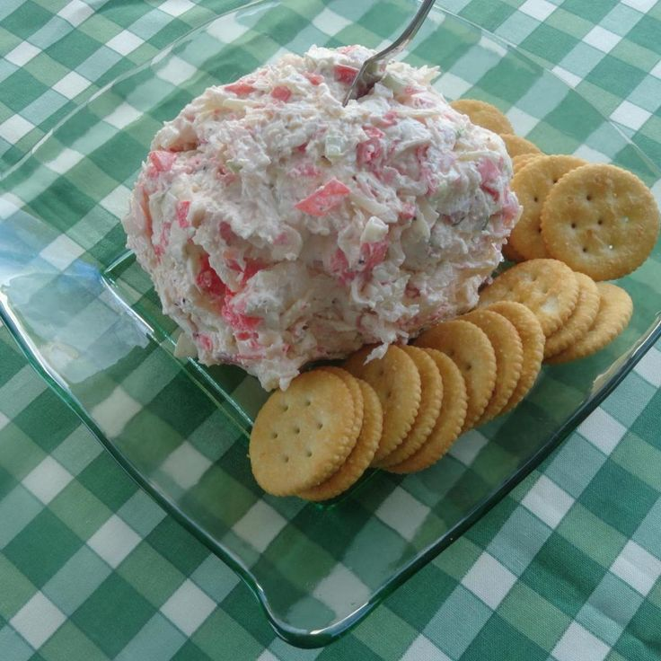 When I made the Open Faced Crab Salad Sandwiches for my husband and son, I had leftover crab salad. I decided to mix it with some cream cheese and made it into a cheese ball. They now request it every weekend while watching football. It's impressive enough to serve at a dinner party, or simple enough to enjoy on game day. Quick & easy this is guaranteed to be a hit!