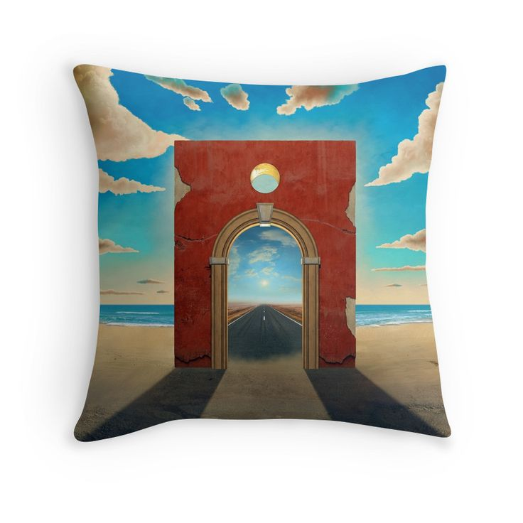 """Arch Gate"" Throw Pillows by Remus Brailoiu 