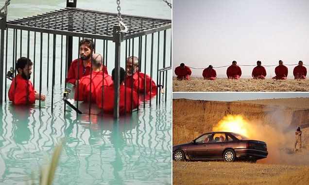 Isis video shows caged prisoners drowned in a swimming - According to jim the swimming pool ...