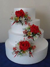 red and black cake topper wedding flowers - Google Search