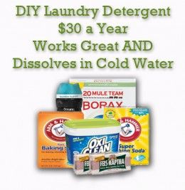 All the supplies you need to create laundry detergent for up to a full year.  - yes, really!