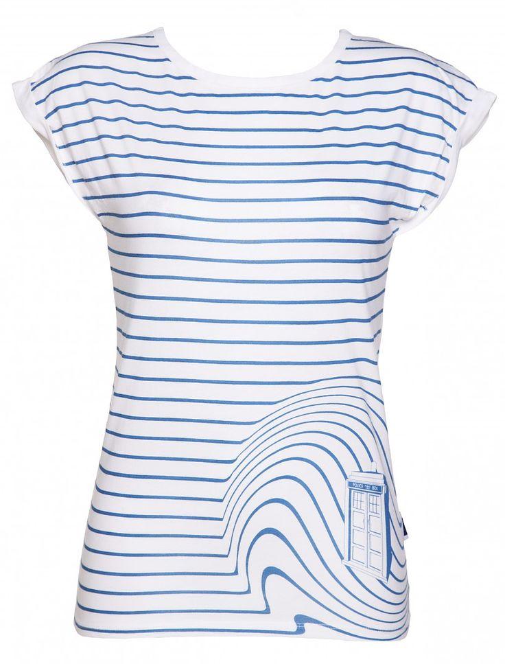 Ladies TARDIS Swirl Doctor Who T-Shirt From BBC Worldwide : TruffleShuffle.com