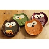 Owl-Shaped Appetizer Plate (Set of 4)Owls Plates, Owls Shape, Owls Appetizers, Kitchens Dining, Owlshap Appetizers, Plates Sets, Owls Stuff, Appetizers Plates, Owls Shapped