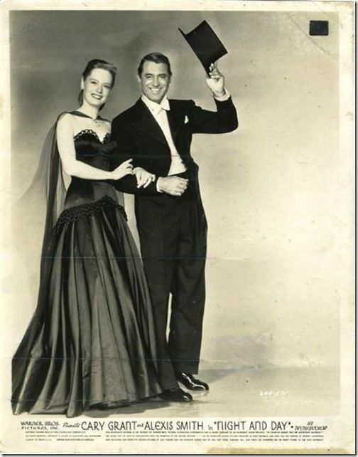 Cary Grant and Alexis Smith in the classic Hollywood movie Night and Day