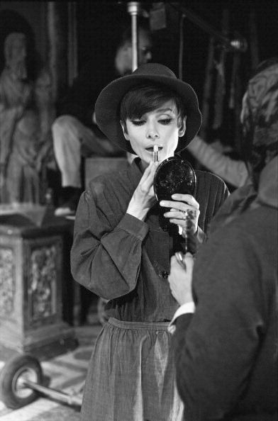 Audrey Hepburn on the set of How to Steal A Million. Photographed by Terry O'Neill, 1966.