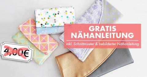 Portemonnaie und Clutch Nähanleitung und Schnittmuster bei Makerist sofort runterladen