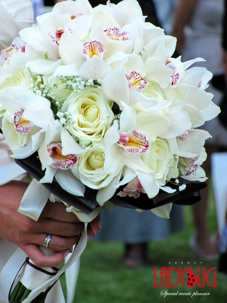 bride bouqet orchids & roses