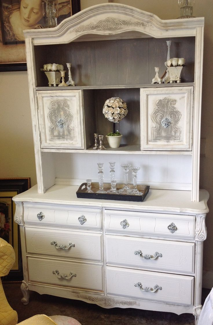Upcycled Hutch using Amy Howard's One Step Paint colors