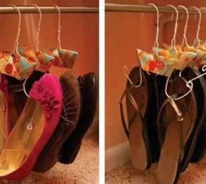 Se você não tem muito espaço para organizar seus sapatos e também não tem muita habilidade para deix
