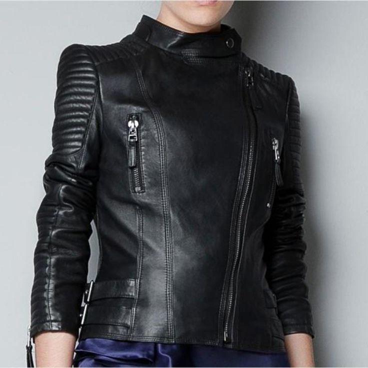 XANNEY de L'UE et des ÉTATS-UNIS automne printemps chaquetas de cuero mujer mince bomber veste jaqueta de couro deri ceket PU femmes en cuir de veste(China (Mainland))
