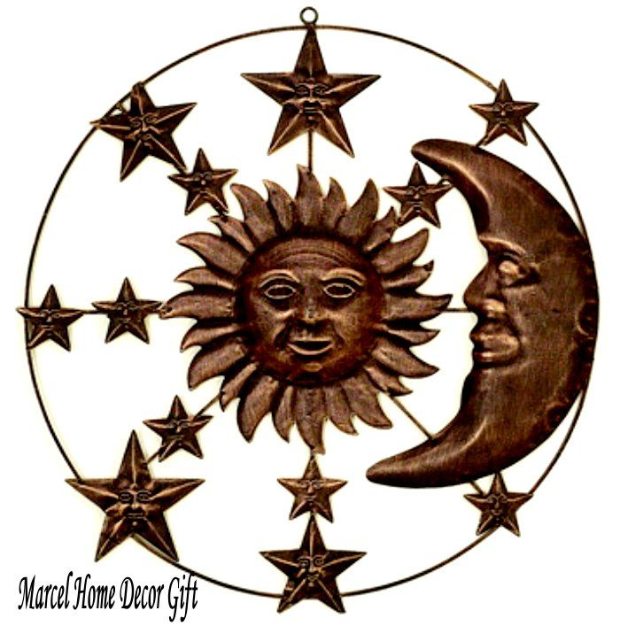 Sun Moon Stars Metal Wire Wall Hanging Garden Art 20 By Ayjewel