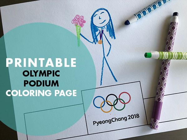 Be a Winner with this Printable Olympic Games Podium | Free Printable | Olympics Activities for Kids