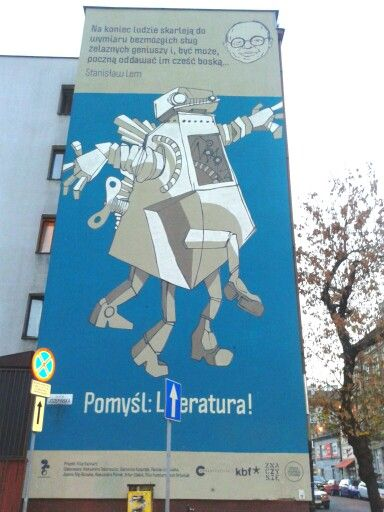 Robot Lema Think: Literature #cracow #mosquitohostel #robotlema