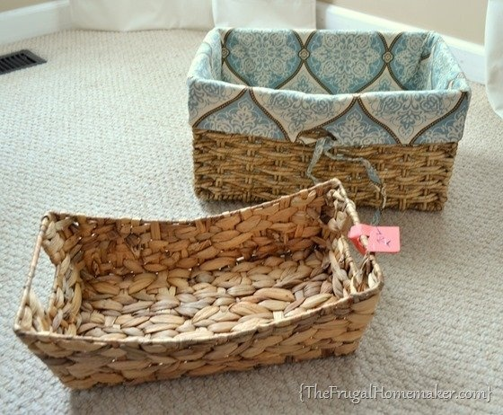 Two beautiful baskets. Thrifted from Value Village by The Frugal Homemaker.